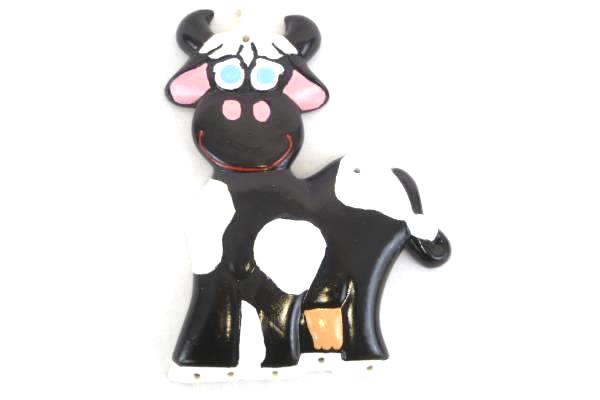 Macky 559 Cow & Milk Jugs Wind Chime Ceramic S23 Decorative Farm Dairy Hanging