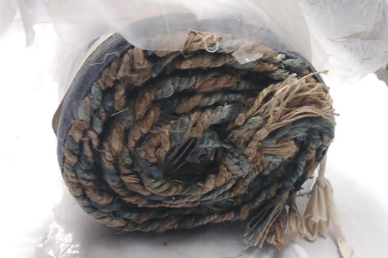 sea glass coins rug