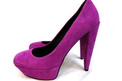 Dolce Vita Gretchen Suede Pumps Magenta 1.5in Platform 4in Heel US Size 9