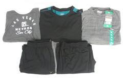 Lot of 5 Active Wear Men's Sz XL Athletic Shorts Shirts Tank Top Black Gray Teal