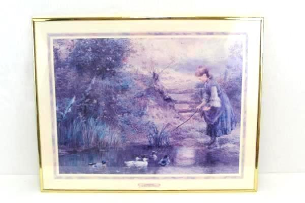 "Large William Stephen Coleman Print Framed Poster 22"" x 28"" Across the Stile"