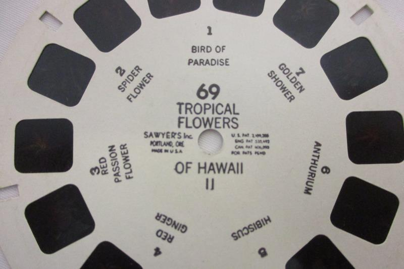 Vintage Sawyer's Inc.View Master Tropical Flowers of Hawaii II Reel 69