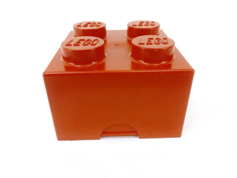 Vintage 1985 LEGO Red Sandwich Box 2 x 2 Brick Lunch Box Collectible