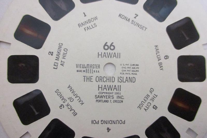 Vintage Hawaii View Master Reel 66 The Orchid Island Hawaii 1951