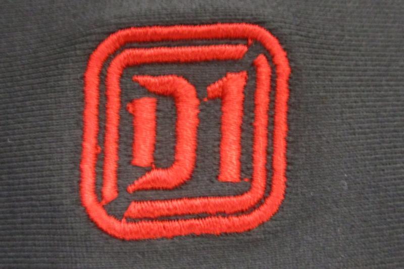 D1 Sports Men's Football Rush Pants Slotted Waist Black Red Sz 2XL Poly Spandex
