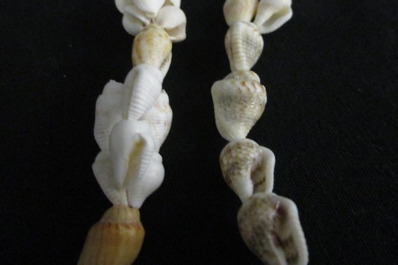 Vintage Sea Shell Necklaces White Tan Hawaiian Puka Lot of 4