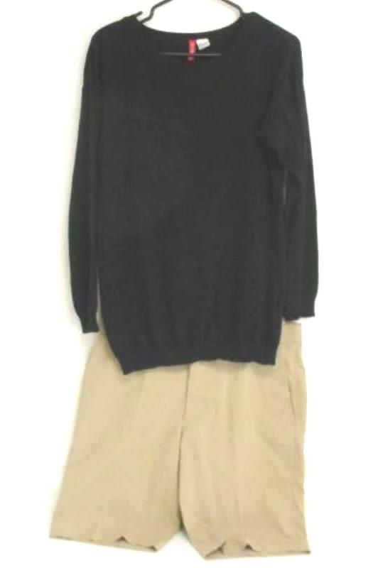 Lot of 2 Womens Divided by H&M Black Sweater S UniQlo Bermuda Shorts Womens 6