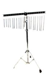Rhythm Tech Bar Chime 20 Bar Single Row Black Silver with Stand