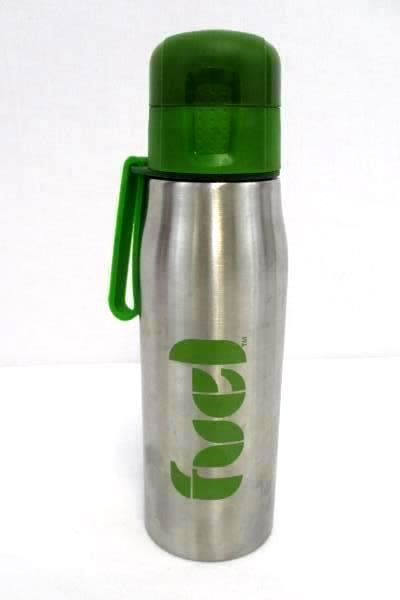 Lot Of 2 Stainless Steel 17OZ Water Bottle 16OZ Coffee Cup Green Black