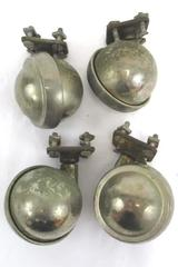 Vintage Lot of 4 Shepherd Swivel Stem Caster Wheels Heavy Hardware Included