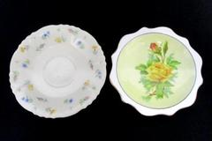 Lot 2 Miniature Collector Plates Federal Shape Syracuse China Royal Albert