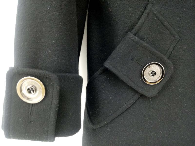 GEORGE SIMONTON STUDIO Lambswool Walking Coat Black Wool Blend Womens Sz 10