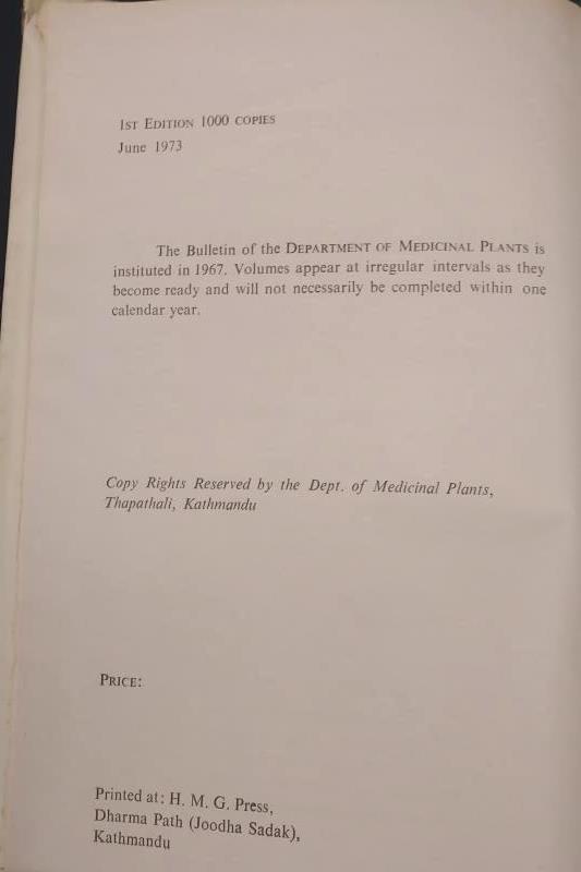Flora of Nagarjun Nepal 1st Ed Durham University Himalayan Expedition 1973