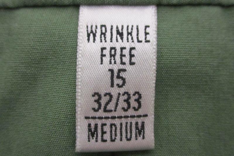 Van Heusen Men's Poplin Wrinkle Free Long Sleeve Button Up Shirt Green 15 32 33