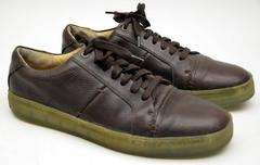 J.D. FISK Men's 9.5 Brown Leather Skateboard Style Shoes Oxfords
