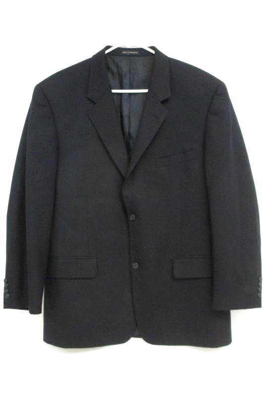 Alfani Men's Navy Blue Two Button Front Blazer Sport Coat Suit Jacket Sz 42R