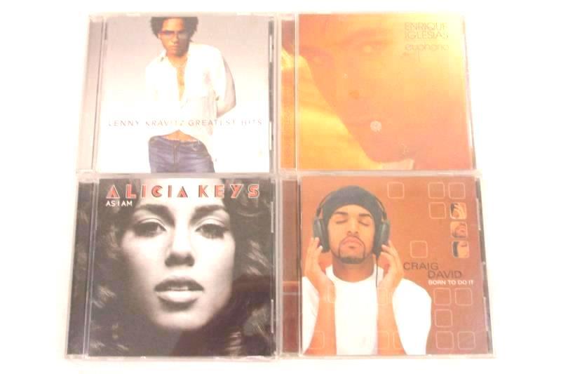 Lot Of 4 R&B CDs Craig David Enrique Iglesias Lenny Kravitz Alicia Keys