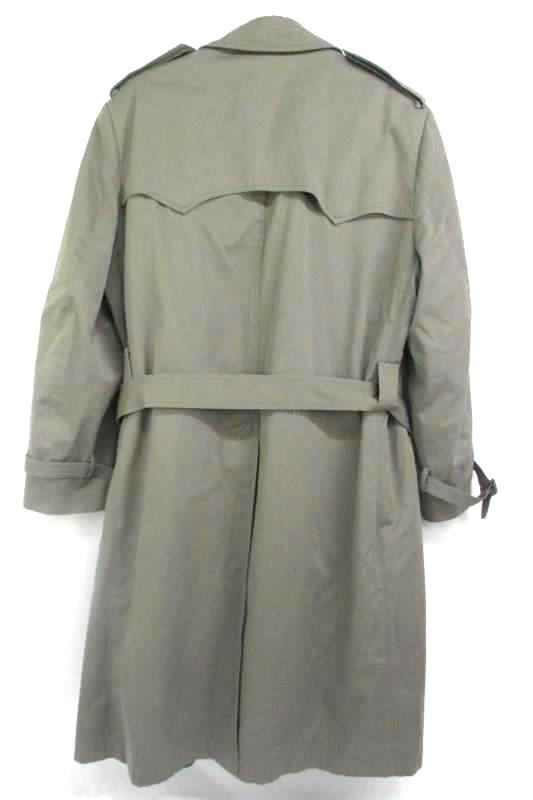 Oakton Ltd Men's Trenchcoat Brown Double Breasted Removable Liner 42 Regular