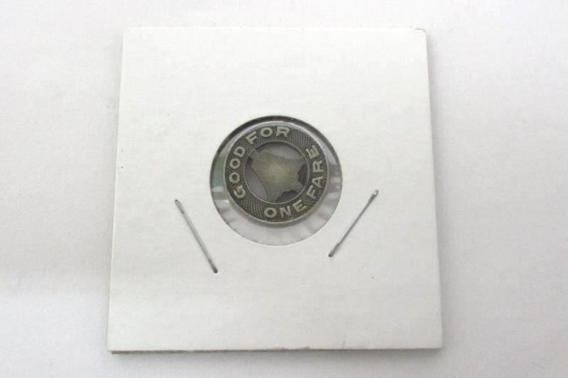 Vintage Los Angeles Railway Token Good For One Fare Transit