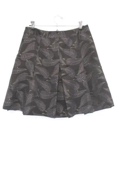 Kenneth Cole Pleated Short Skirt Purple Leaves Women's Size 6