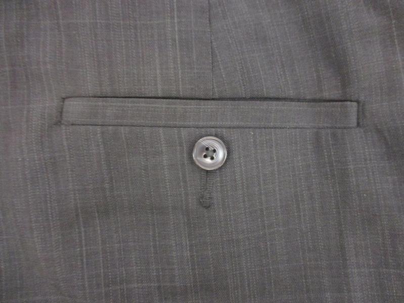 Cubavera Men's Pinstripe Dress Pants Charcoal Straight Leg Polyester Size 36x30