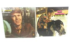 Lot of 2 Glen Campbell Vinyl Records Try A Little Kindness and A Satisfied Mind