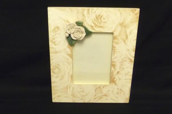 Set of 2 Lady Jayne Ltd Rose Embellished Wood Wall Hanging Frames Home Decor
