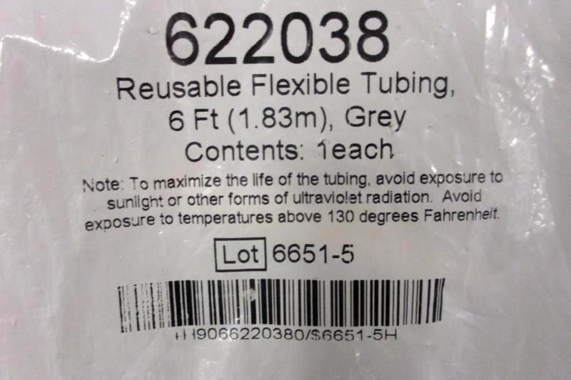 Sealed Bag CPAP Tube Respironics Smooth-bore Tubing 6 ft Gray Reusable Flexible