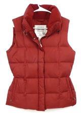 Eddie Bauer Premium Goose Down 700 Filled Power Women's Size S Red Puffer Vest
