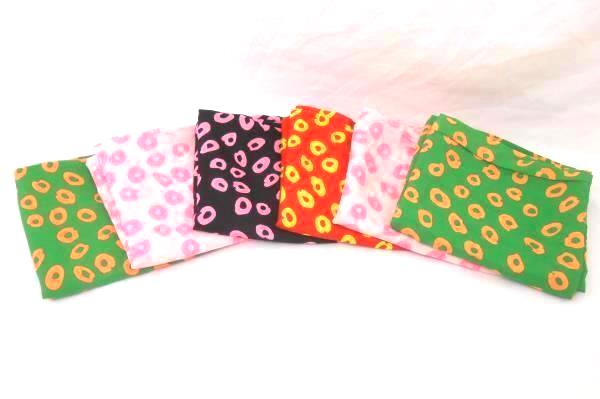 Lot of 6 Cheetah Print Scarves Infinity Bright Neon Pink Yellow Green