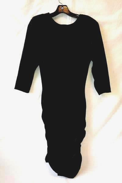 All That Jazz Black Velvet with Bow Stretch Fabric Dress Womens Size Large