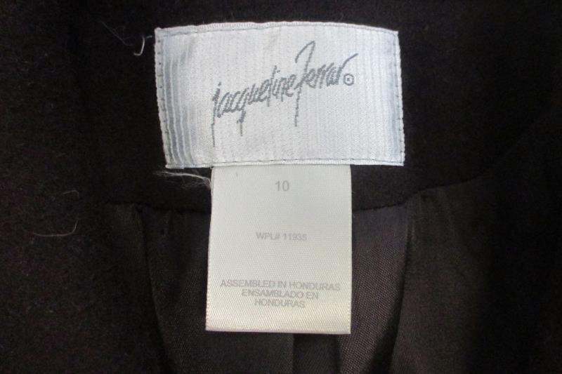 Jacqueline Ferrar Women's 100% Wool Plum Long Winter Coat Lined Sz 10 With Tags