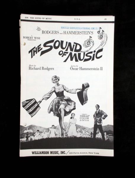 Vtg 1960's THE SOUND OF MUSIC Choral Lyric & Sheet Music  Two songs, 16 pieces.