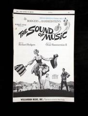 Vtg 1960's THE SOUND OF MUSIC Choral Lyric & Sheet Music  Two songs, 16 pcs SSA