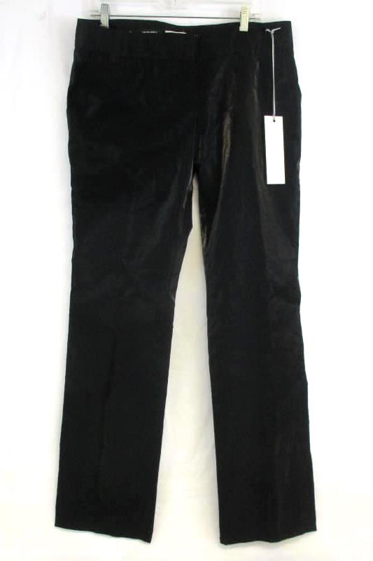 Blubyblos Dress Pants Reflective Black Flat Front Women's Size 12