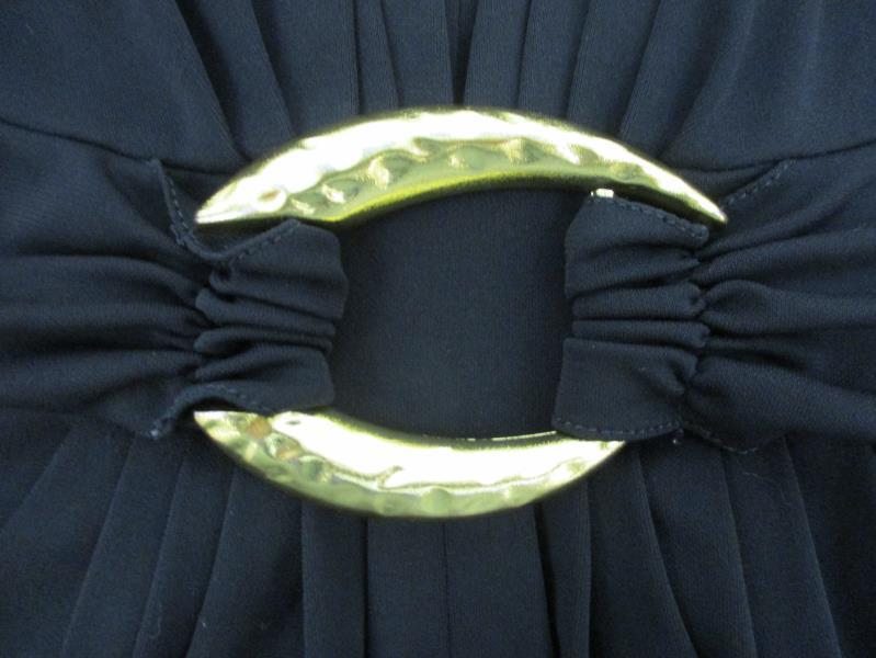 BCBG MaxAzria Women's Black Halter Party Dress Pockets Open Back Petites Sz SP
