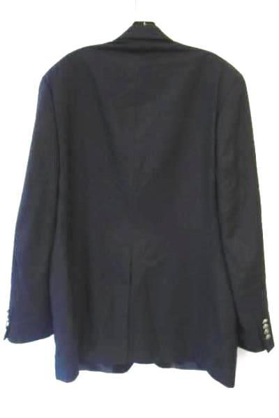Men's Navy Blue Wool Long Sleeve Padded Suit Jacket By Michael Kors Size 44L