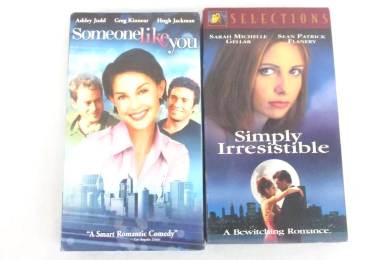 Lot of 2 - Simply Irresistible VHS And Someone Like You VHS