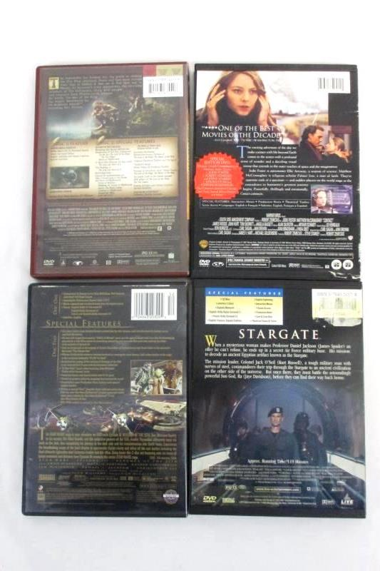 Sci-Fi Fantasy DVDs Stargate Star Wars Contact Lord Of The Rings Lot of 4