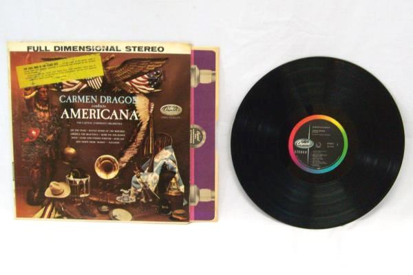 Carmen Dragon Conducts Americana Vinyl Records