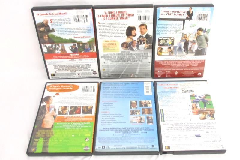 Lot Of 6 Comedy DVDs Get Smart Juno I Love You Man The Big Year About Schmidt