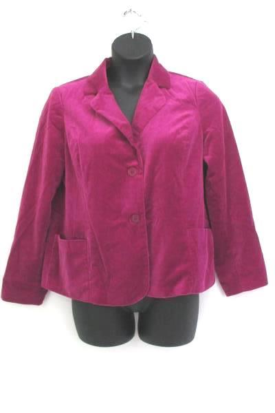 Studio Works Fuchsia Purple Suede Jacket Women's Size 16 Casual Career Business