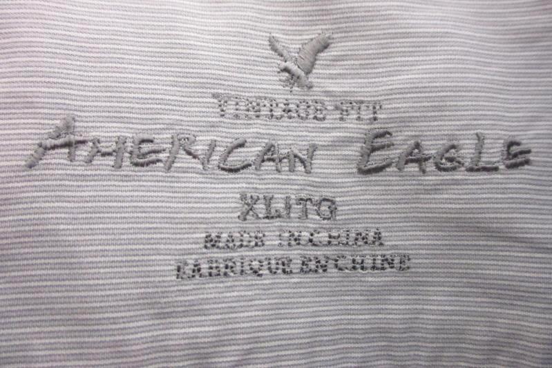 American Eagle Men's Vintage Fit Blue Striped Button Dress Shirt Size XL