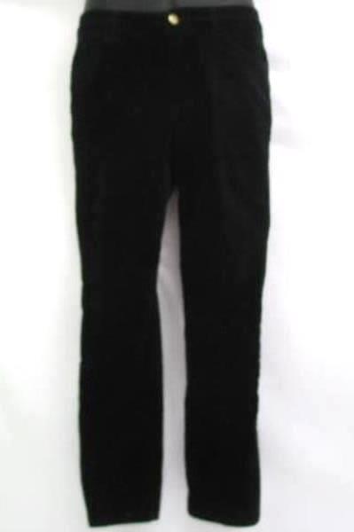Women's PENDLETON Corduroy Pant Black Cowl Neck Sweater Blue Size M / 8