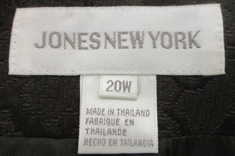 Jones New York Women's Brown Paisley Button Front Blazer Jacket Cotton Size 20W