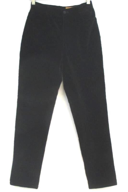 Classiques Entier Dress Pants Black Velvet Cotton Women's Size 6P