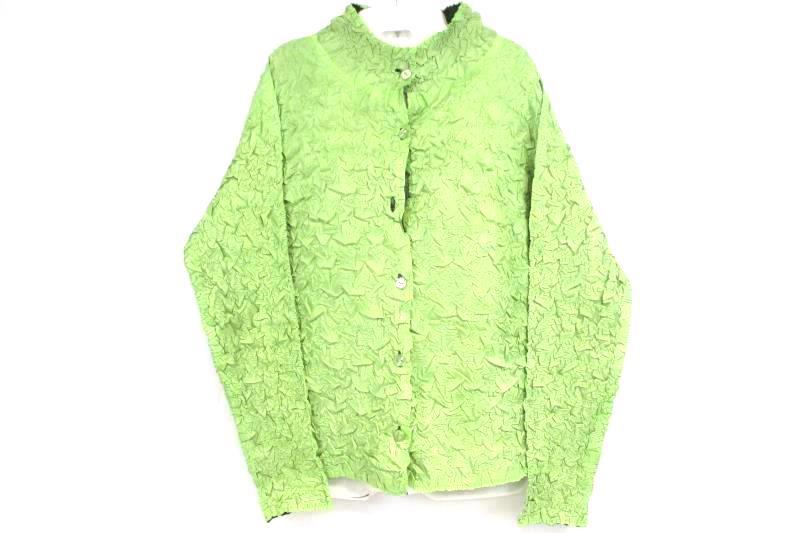 Vintage Pleats Collection Pings Imports Scrunchy Reversible Jacket Women's Sz M