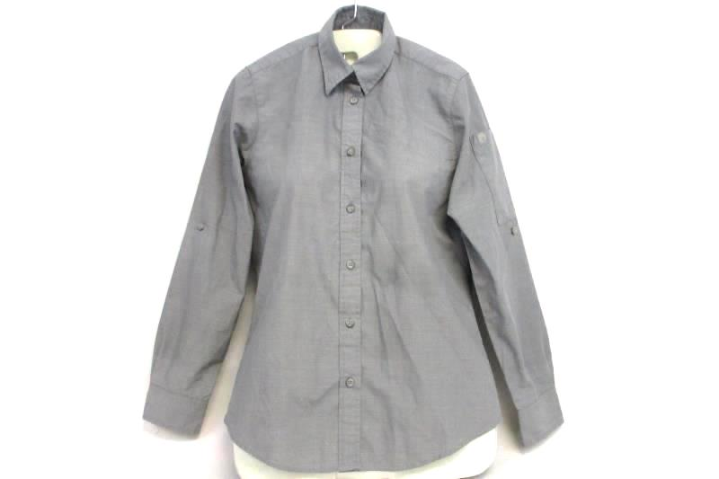 Chef Works Men's Chambray Gray Uniform Button Up Shirt Cotton Polyester Size S