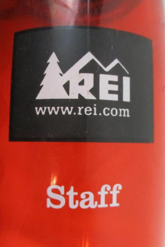 REI Red Wide Mouth Water Bottle 24 oz GSI Outdoors Staff Edition Screw On Lid