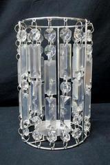 Large Crystal Prism Jewel Pillar CANDLE HOLDER Centerpiece Wedding Formal Table